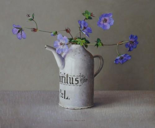 Wilde geranium in spirituskannetje