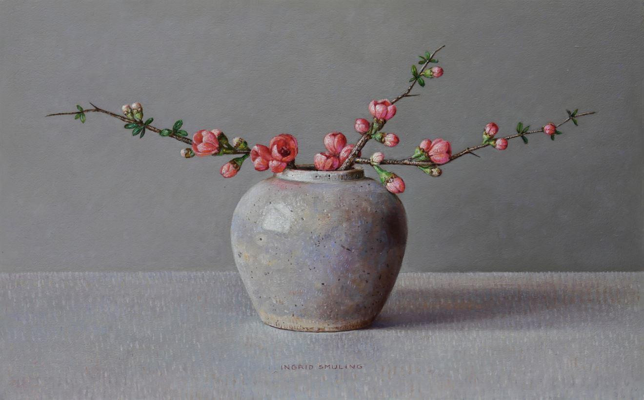 Japanse Kwee in grijze Gemberpot