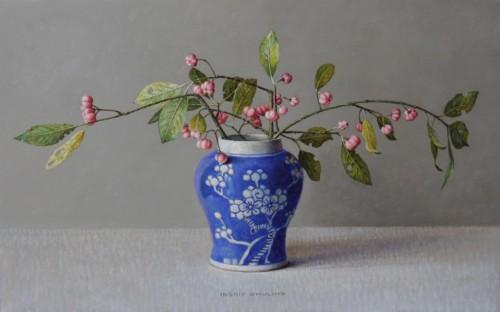 Kardinaalsmuts in Blauwe Chinese Pot