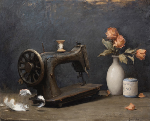 Sawing machine and dry flowers