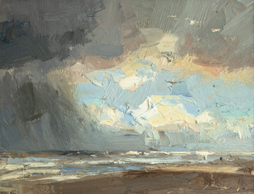 Seascape, Dark rainy day, beauty