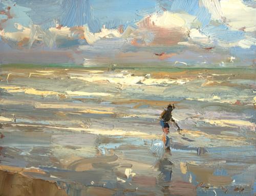 Seascape Boy in the Shoreline – Bright Sunny (gereserveerd)