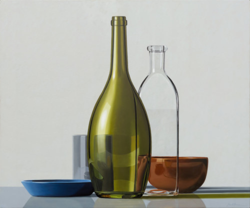Composition with Green Bottle