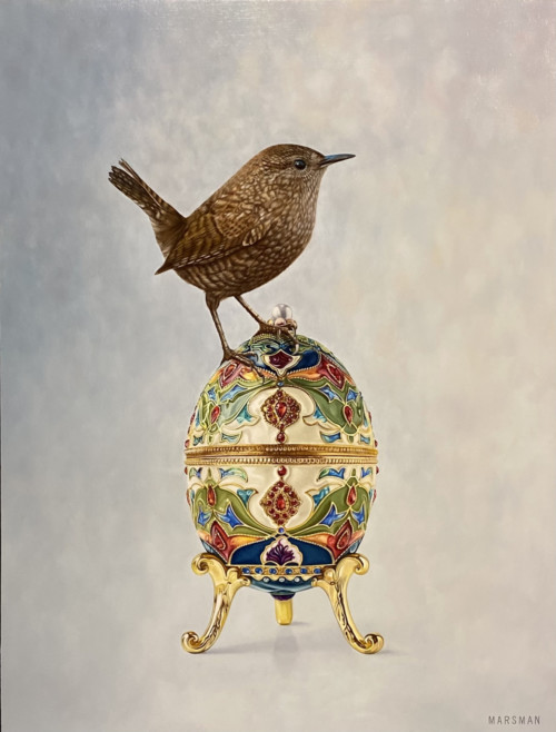Vogel op Fabergé ei